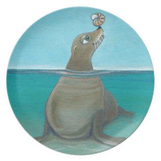 "Plato ""Nautilus"" el león marino"