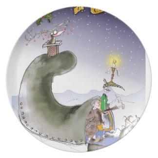 Plato Navidad de Yorkshire del amor felices