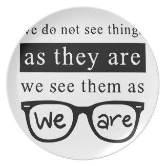Plato No vemos cosas mientras que son