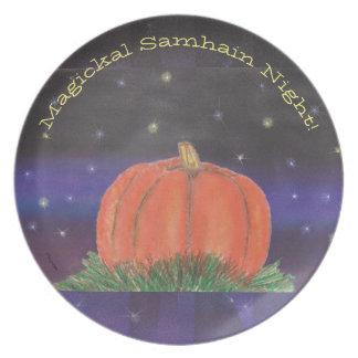 Plato Noche de la calabaza de Samhain