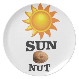 Plato nuez del sol sí