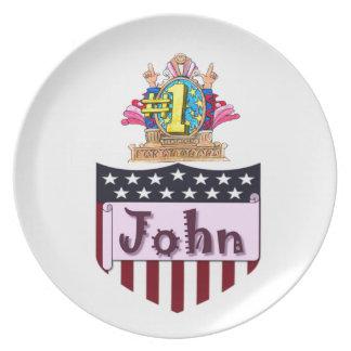 Plato Número uno Juan