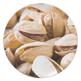 Plato Opinión macra del primer de un grupo de pistacho