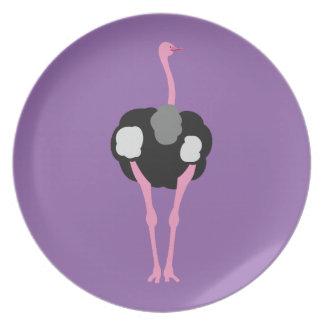 Plato Pájaro de la avestruz