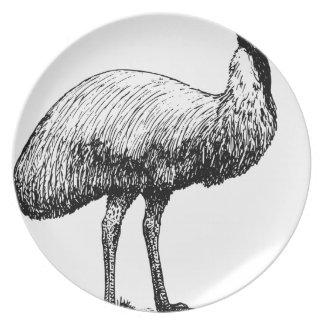 Plato Pájaro del Emu