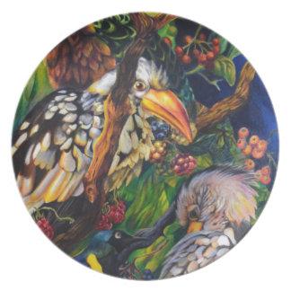Plato Pájaros de la selva