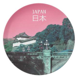 Plato Palacio imperial en Tokio, Japón
