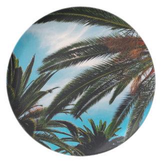 Plato Palmeras tropicales