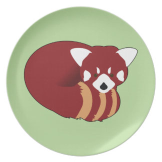 Plato Panda roja