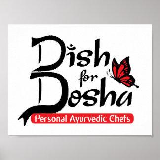 Plato para los cocineros personales de Dosha Póster