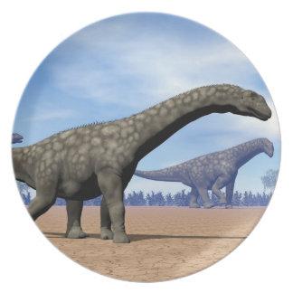 Plato Paseo de los dinosaurios del Argentinosaurus - 3D