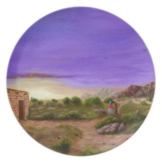 Plato Paseo del desierto