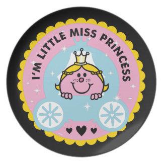 Plato Pequeña Srta. princesa el | soy princesa