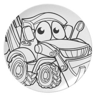 Plato Personaje de dibujos animados del cavador de la