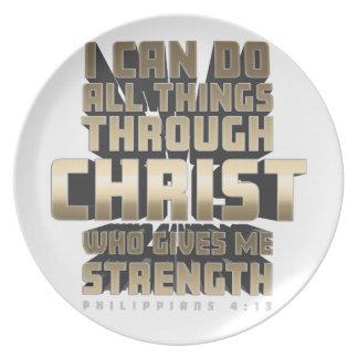 Plato Phil4: 13 puedo hacer todas las cosas a través de