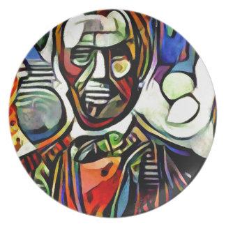 Plato Pintura colorida digital de Abraham Lincoln