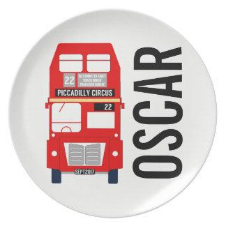Plato Placa adaptable de la melamina del autobús de