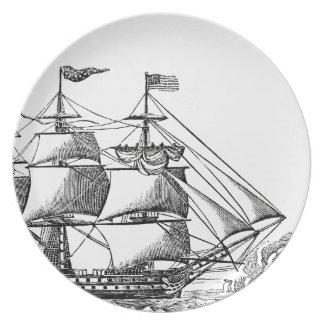 Plato Placa alta de la melamina de la impresión de