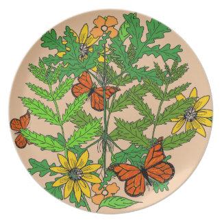 Plato Placa botánica decorativa