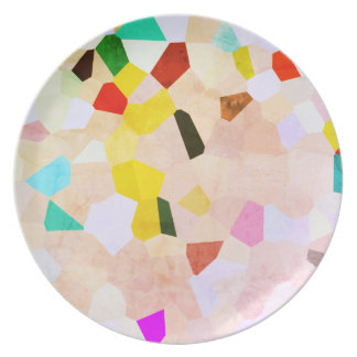 Plato Placa colorida del modelo de mosaico