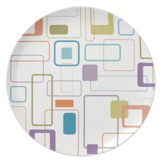 Plato Placa cuadrada de la melamina de la MOD