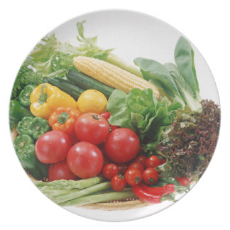 Plato Placa de cena de las verduras