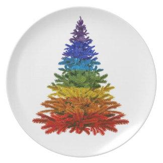 Plato Placa de cena del navidad LGBT