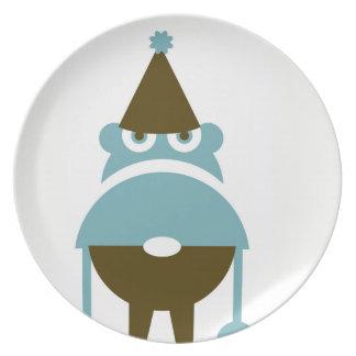 Plato Placa de cena gruñona del gnomo