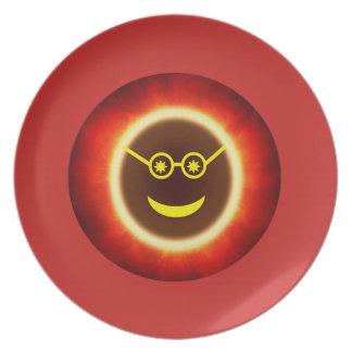 Plato Placa de Ecliptoman - rojo