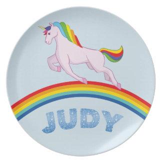 Plato Placa de Judy para los niños