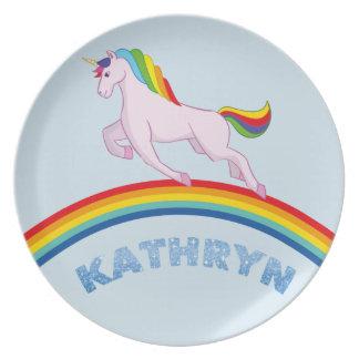Plato Placa de Kathryn para los niños