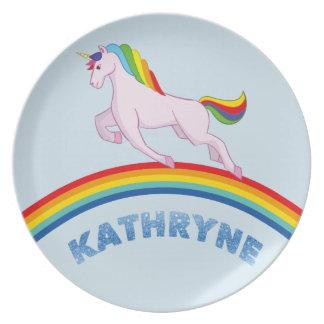 Plato Placa de Kathryne para los niños