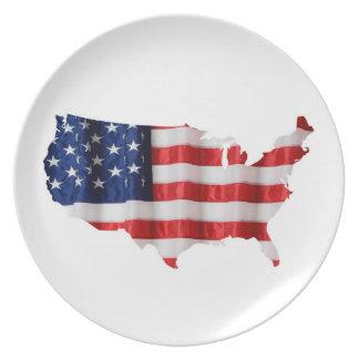 Plato Placa de la melamina de Estados Unidos