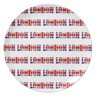 Plato Placa de la melamina de Londres