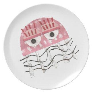 Plato Placa de la melamina del peine de las medusas