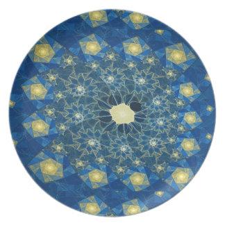 Plato Placa de la melamina del vitral de los espirales