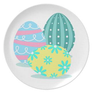 Plato Placa de la porción del fiesta del huevo de Pascua