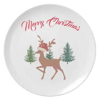 Plato Placa de las Felices Navidad
