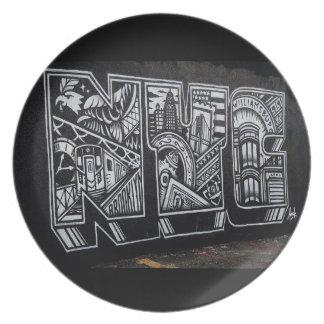 Plato Placa de NYC