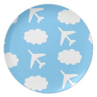 Plato Placa del aeroplano