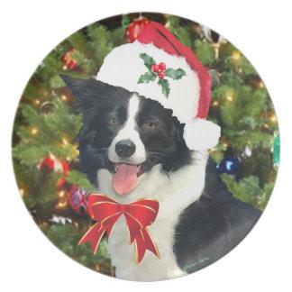 """Plato """"Placa del día de fiesta del perrito de Santa"""""""