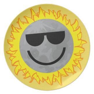 Plato Placa del eclipse de Ecliptomaniac - amarillo