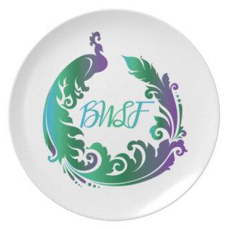Plato Placa del logotipo del llano de la familia de BWL
