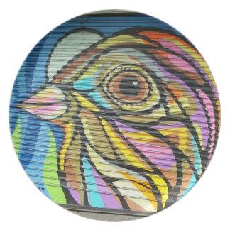 Plato Placa del pájaro de la puerta