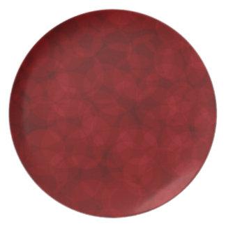 Plato Placa del rojo del navidad del modelo del vintage