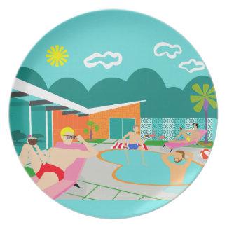Plato Placa gay retra de la melamina de la piscina