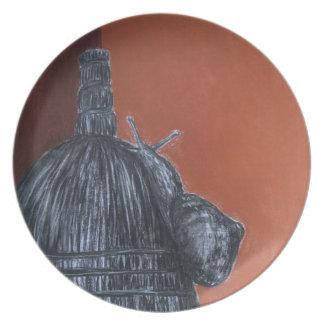 Plato Placa rústica de la melamina