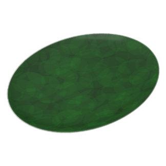 Plato Placa verde del navidad del modelo del vintage