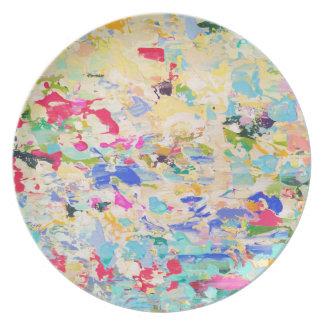 Plato Placas de la melamina del arte de Carolyn Joe