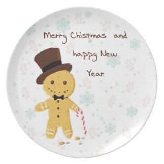 Plato Placas decorativas de las Felices Navidad con el
